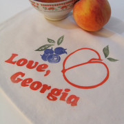 Love-GA-peach teatowel-georgia-atl-handmade